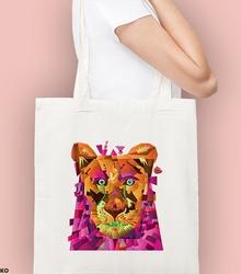 Odważny lew. kosmos torba na zakupy naturalna universal