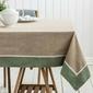 Obrus na stół z koronką altom design bawełniany oliwkowy  zielony 160 x 240 cm