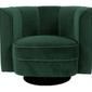 Dutchbone :: fotel tapicerowany flower zielony