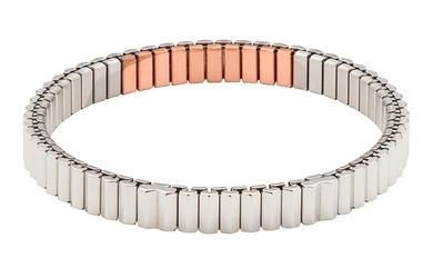 bransoletka magnetyczna elastyczna 3519-1, 2400 Gaussów, polerowana z miedzią