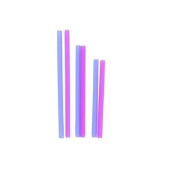 Wielorazowe silikonowe słomki kobaltowo-jagodowe, silikids