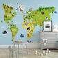 Tapeta dziecięca - zwierzęta na świecie , rodzaj - tapeta flizelinowa laminowana