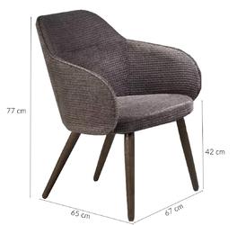 Fotel wypoczynkowy do salonu valley ciemnoszaryorzech
