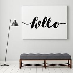 Hello - modny obraz w stylu skandynawskim , wymiary - 50cm x 70cm