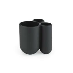 Umbra - stojak na szczoteczki do zębów - touch - czarny - czarny