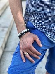 Bransoletka blue sodalit  xs