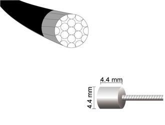 Linka przerzutki mars one 1,1 x 2200mm teflon stal nierdzewna -nypel 4.44.4