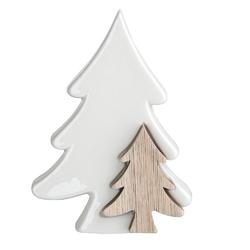 Ozdoba  dekoracja świąteczna  figurka dekoracyjna święta boże narodzenie altom design choinki porcelana - drewno 11,5 x 4,5 x 15,5 cm