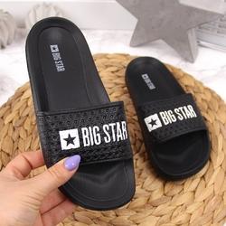 Klapki dziecięce sportowe basenowe czarne big star gg374800
