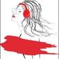 Kobieta w falach muzyki - plakat wymiar do wyboru: 29,7x42 cm