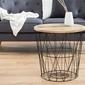 Interior space :: stolik drop 52cm czarny mango