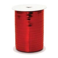 Wstążka plastikowa metalizowana 5 mm225m czerwona - czerwony