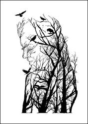 Kobieta - plakat wymiar do wyboru: 70x100 cm