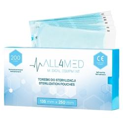 All4med torebki do sterylizacji  w  autoklawie 135mm x 250 mm 200szt