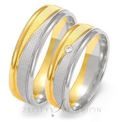 Obrączki ślubne Złoty Skorpion – wzór Au-OE189