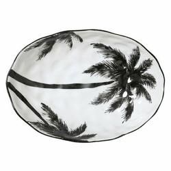 HK Living :: Porcelanowa salaterka w palmy DŻUNGLA