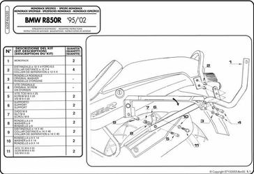 Stelaż Givi 635f BMW R850R 95-02, R1100R 95-01