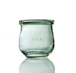 Słoik o zaokrąglonej podstawie Weck 370 ml