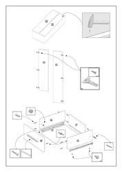 Nowoczesna szafa z szufladami lima s2 dąb sonoma