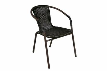Krzesło ogrodowe polirattanowe, brązowe