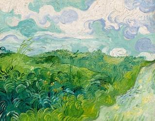 Green wheat fields, auvers, vincent van gogh - plakat wymiar do wyboru: 50x40 cm