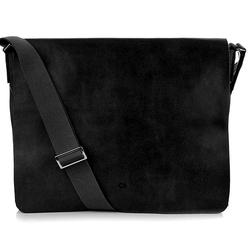 Daag jazzy smash 74 czarna skórzana torba na tablet unisex - czarny