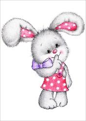 Plakat dla dzieci zajączek p004