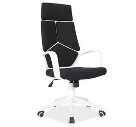 Nowoczesny fotel do gabinetu q-199 biało - czarny