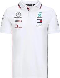 Koszulka polo mercedes amg petronas f1 2020 biała - biały
