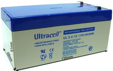 Akumulator agm ultracell ul 12v 3.4ah żelowy - szybka dostawa lub możliwość odbioru w 39 miastach