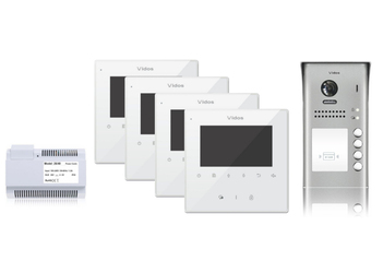 Wideodomofon 4-rodzinny VIDOS DUO 4 x M1022W  S1104A - Szybka dostawa lub możliwość odbioru w 39 miastach