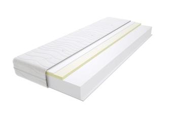 Materac piankowy maroko max plus 90x140 cm miękki  średnio twardy 2x visco memory