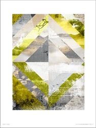 Abstract landscapes paint - plakat premium