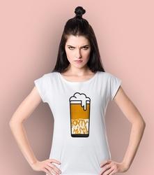 Hoptymista t-shirt damski biały xs