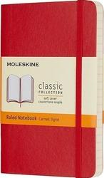 Notes moleskine w miękkiej oprawie kieszonkowy czerwony w linie