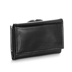Lakierowany portfel damski skórzany brodrene a-21 czarny