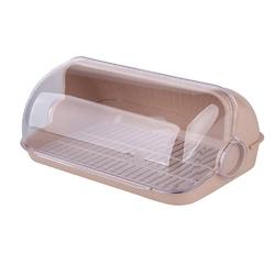 Chlebak  pojemnik na pieczywo plastikowy lamela duży beżowy