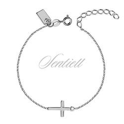 Srebrna bransoletka pr.925 z krzyżykiem