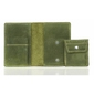 Elegancki portfel ze skóry na karty i monety brodrene sw01+ zielony