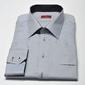 Elegancka szara koszula męska van thorn slim fit  z klasycznym kołnierzykiem 46