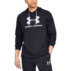 Bluza męska ua sportstyle terry logo hoodie - czarny