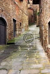 Fototapeta stary uliczka w toskanii