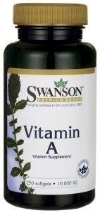 Swanson witamina a 10000iu x 250 kapsułek