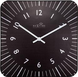 Kwadratowy zegar na ścianę Alex Radio Control Nextime 35 x 35 cm, czarny 3240 ZW