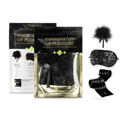 Mini prezentowy zestaw akcesoriów - bijoux indiscrets instruments of pleasure  maska szarfa piórko