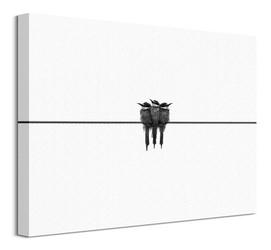 Black swallow - obraz na płótnie