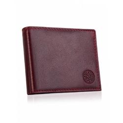 Skórzany portfel betlewski bpm-ot-66 burgundowy