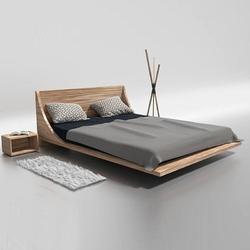 Drewniane łóżko do sypialni russ