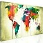 Obraz - nietuzinkowa mapa świata