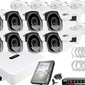 Zestaw monitoringu do firmy, domu rejestrator ip hwn-2108 + 8x kamera fullhd + akcesoria
